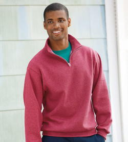 995M Jerzees Adult 8 oz. Quarter-Zip Cadet Collar Sweatshirt
