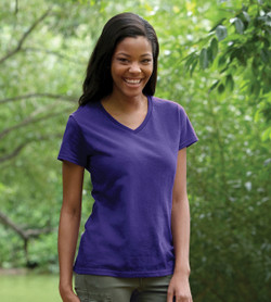 5V00L Gildan Heavy Cotton Ladies' V-Neck Tee
