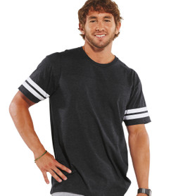 6937 LAT Men's Football Fine Jersey Tee