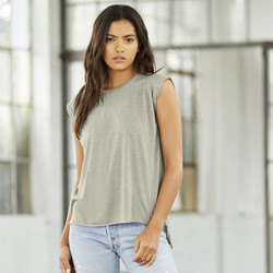 8804 Bella + Canvas Women's Muscle Tee with Rolled Cuffs