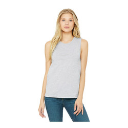 6003 Bella + Canvas Women's Jersey Muscle Tank  (Athletic Heather)