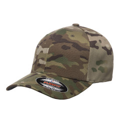 6277MC Flexfit Wooly Combed Multicam 6-Panel Camo Cap  (Multicam)