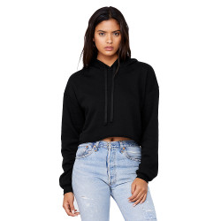 7502 Bella + Canvas Women's Cropped Fleece Hoodie  (Black)