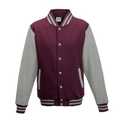 JH043 - Burgundy/Heather Grey