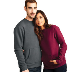 9001 Next Level Apparel Unisex Fleece Crew Sweatshirt with Pocket