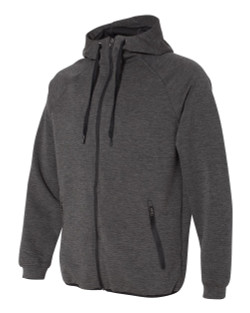 Weatherproof - Heat Last Fleece Tech Full-Zip Hooded Sweatshirt - 18700  (Black Heather)