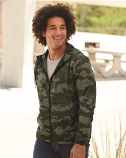 Independent Trading Co. - Water-Resistant Lightweight Windbreaker - EXP54LWZ  (Forest Camo)