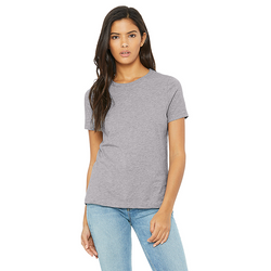 Bella+Canvas 6400CVC - Womens Relaxed Fit Heather CVC Short Sleeve Tee  (Athletic Heather)