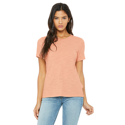 Bella+Canvas 6416 - Women's Relaxed Slub S/S Tee  (Peach)