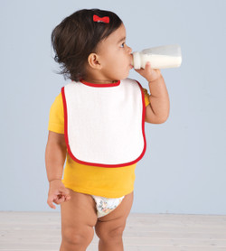 1003 Rabbit Skins Infant Contrast Trim Terry Bib