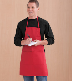9730 LIBERTY BAGS CAROLINE BUTCHER APRON (Red)