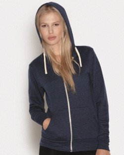 3909 BELLA + CANVAS UNISEX TRIBLEND SPONGE FLEECE FULL-ZIP HOODED SWEATSHIRT