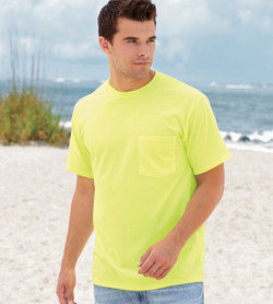 3930P FRUIT OF THE LOOM HEAVY COTTON HD ADULT POCKET T-SHIRT