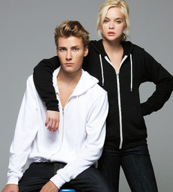 Bella + Canvas 3739 Unisex Poly-Cotton Fleece Zip-Up Hoodie