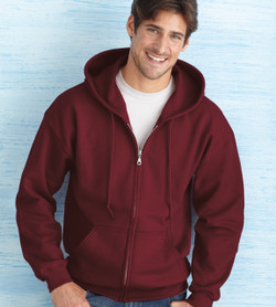 18600 GILDAN HEAVY BLEND ADULT FULL ZIP HOODED SWEATSHIRT