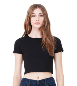 6681 BELLA + CANVAS Womens Poly Cotton Crop Tee