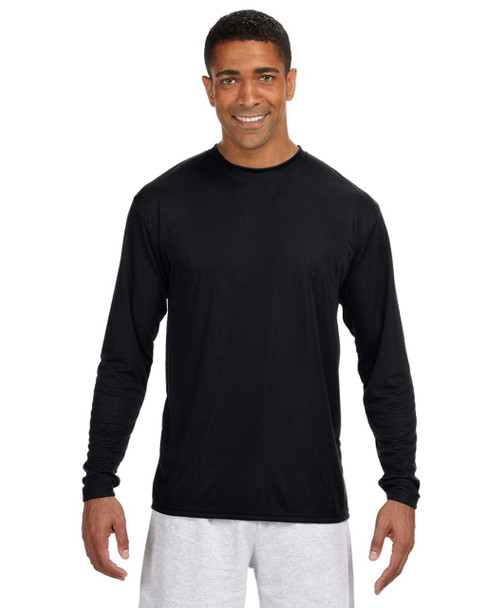 A4 N3165 - Mens Long Sleeve Cooling Performance Crew Neck T-Shirt S-3X