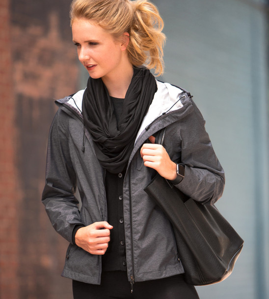 17604W 32 Degrees Weatherproof Ladies Melange Rain Jacket