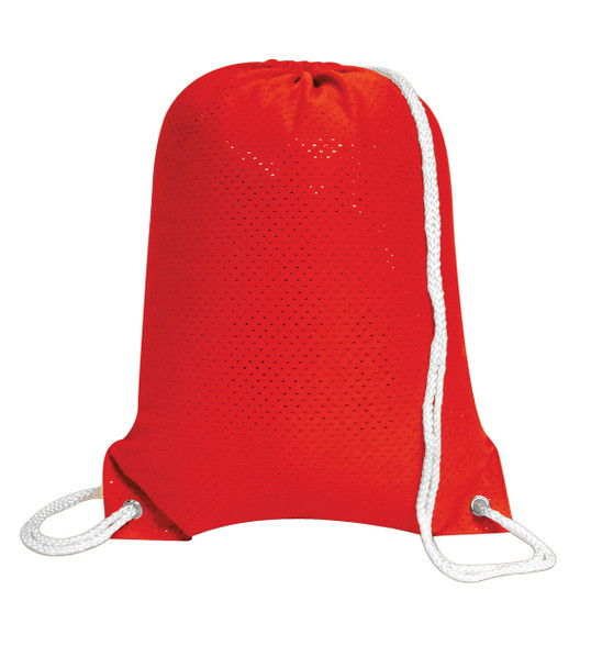 8895 Liberty Bags Jersey Mesh Drawstring Backpack  (Red)