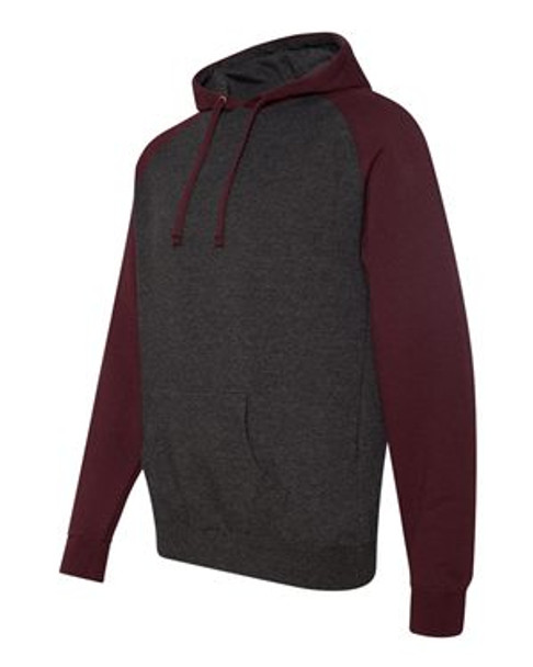 IND40RP - Charcoal Heather/Burgundy Heather