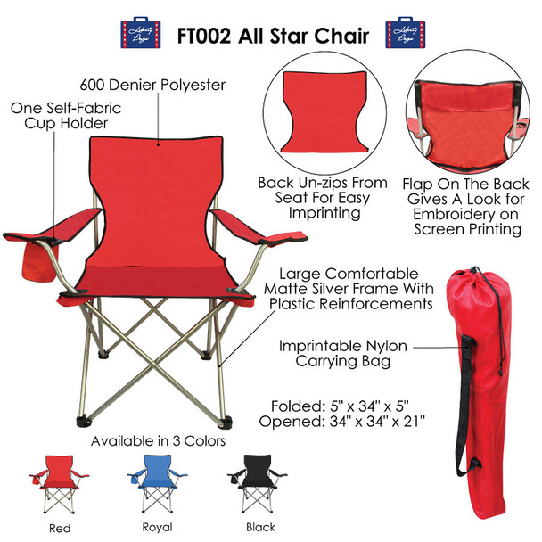 FT002 Liberty Bags All Star Chair
