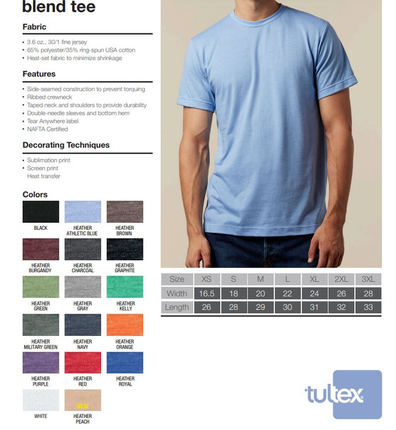 Tultex 241 Specifications