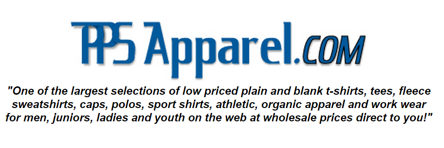 One of the largest selections of low priced plain and blank t-shirts fleece sweatshirts, caps, polos, sport shirts, athletic organic apparel for men juniors ladies and youth