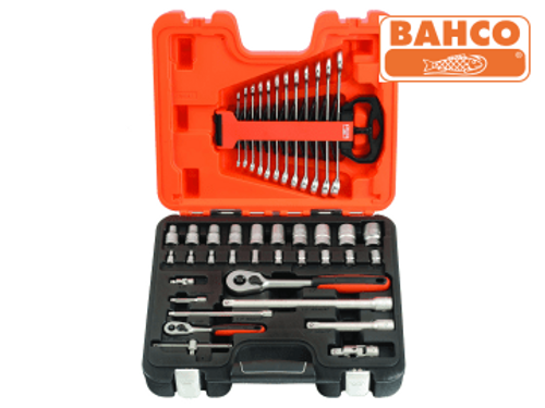 Bahco Socket & Spanner Set of 41 Metric 1/4in & 1/2in Drive