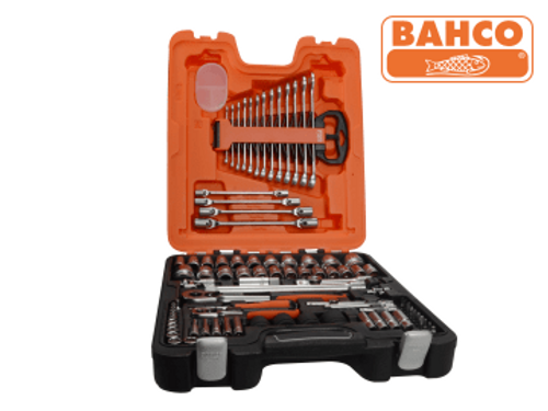 Bahco Socket & Spanner Set of 94 Metric & AF 1/4 & 1/2in Drive
