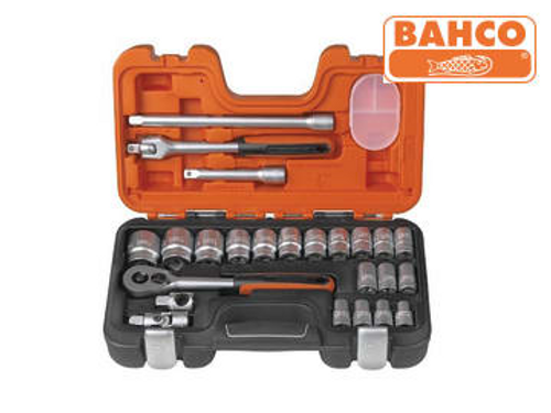 Bahco Socket Set of 24 Metric 1/2in Drive