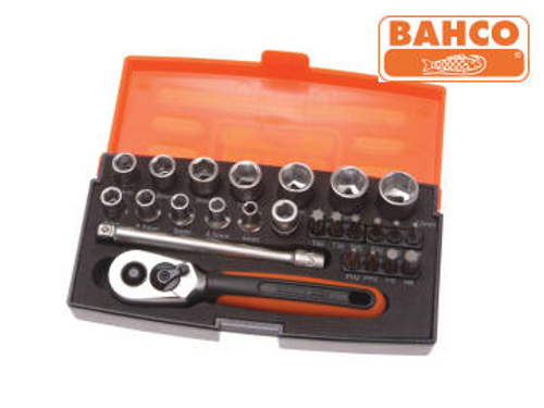 Bahco Socket Set of 25 Metric 1/4in Drive