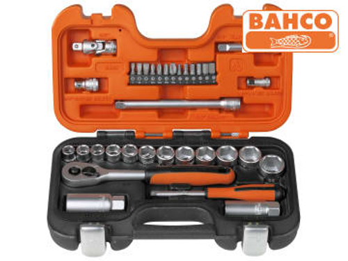 Bahco Socket Set of 34 Metric 1/4in & 3/8in Drive