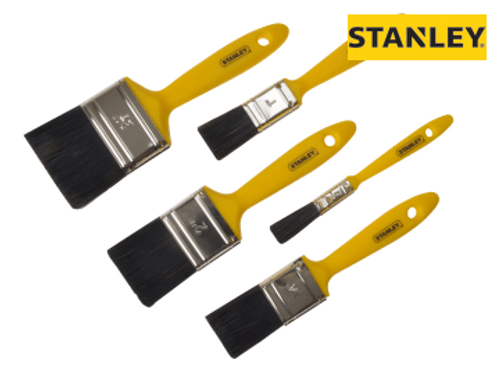 Stanley Hobby Paint Brush Set of 5 12, 25, 37, 50 & 62mm
