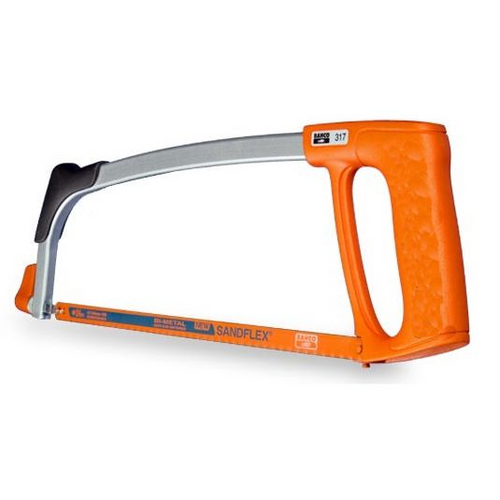 Bahco 317 Sandflex Hacksaw Frame complete with 1 Blade (12 Inch)