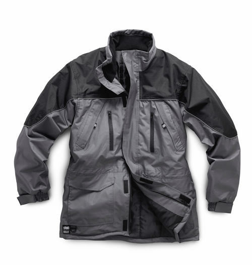 Hard Core Black Grey Work Jacket Coat