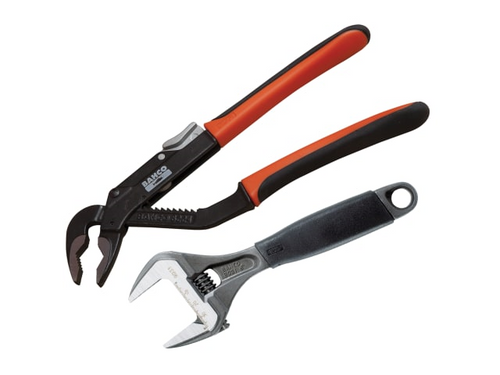 Adjustable Wrench & Waterpump Plier Handy Pack