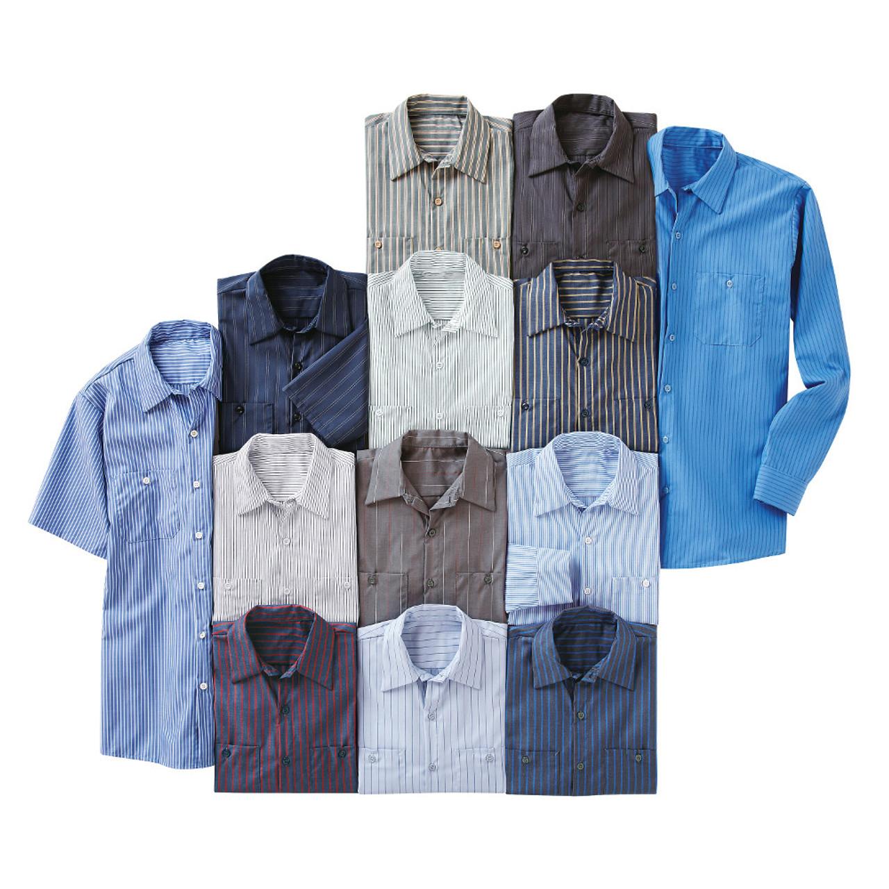 Red Kap Mens RK Micro Check Uniform Shirt
