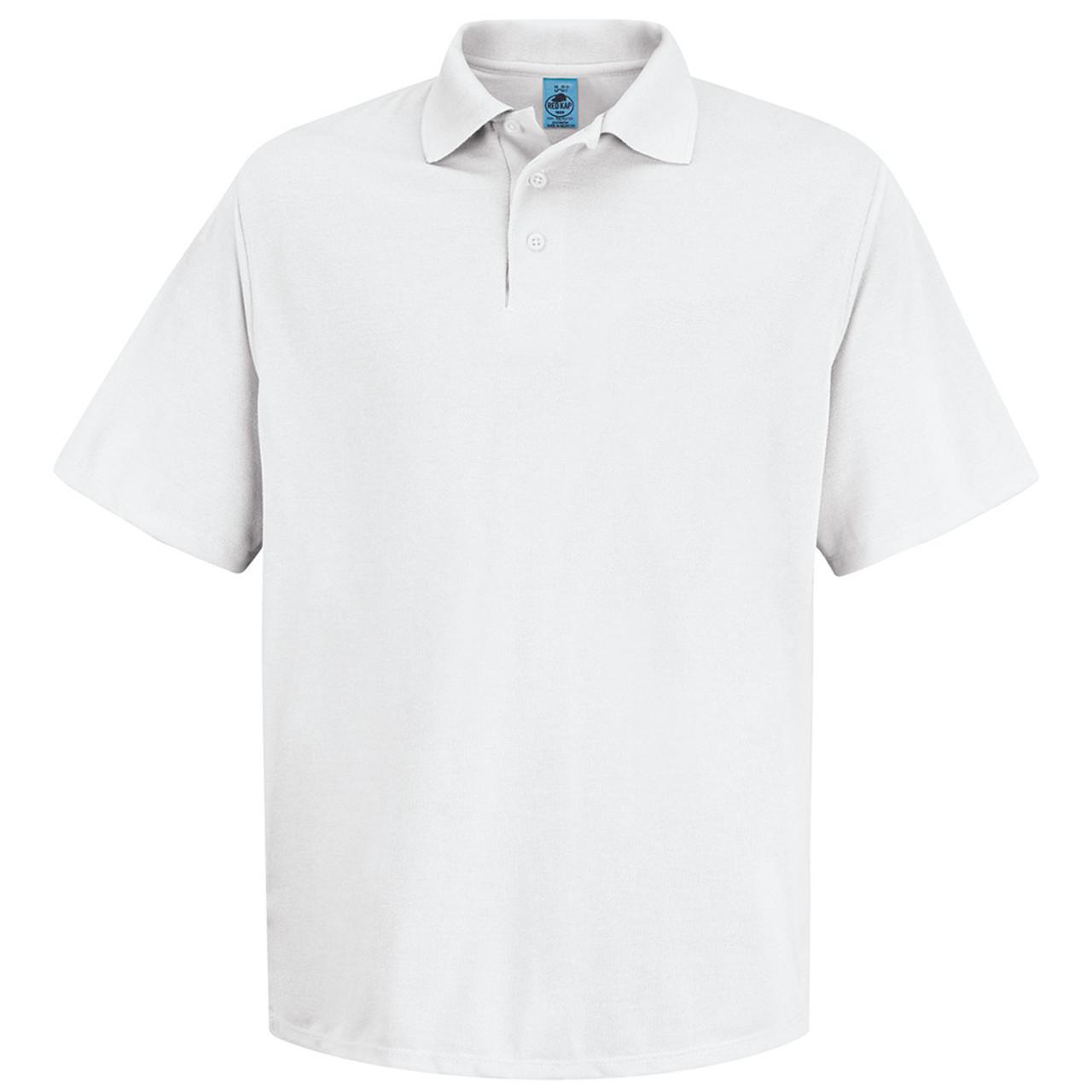 Black Red Kap Men/'s Pocketless Core Polo Work Shirt