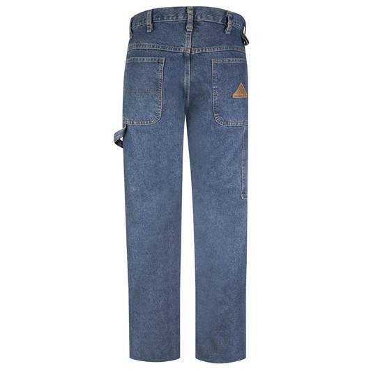 Bulwark 28 X 37 Sanded Denim Cotton Flame Resistant Denim Jeans With Button Closure