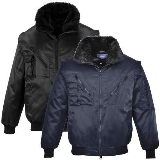 Portwest Mens Jacket Black Black