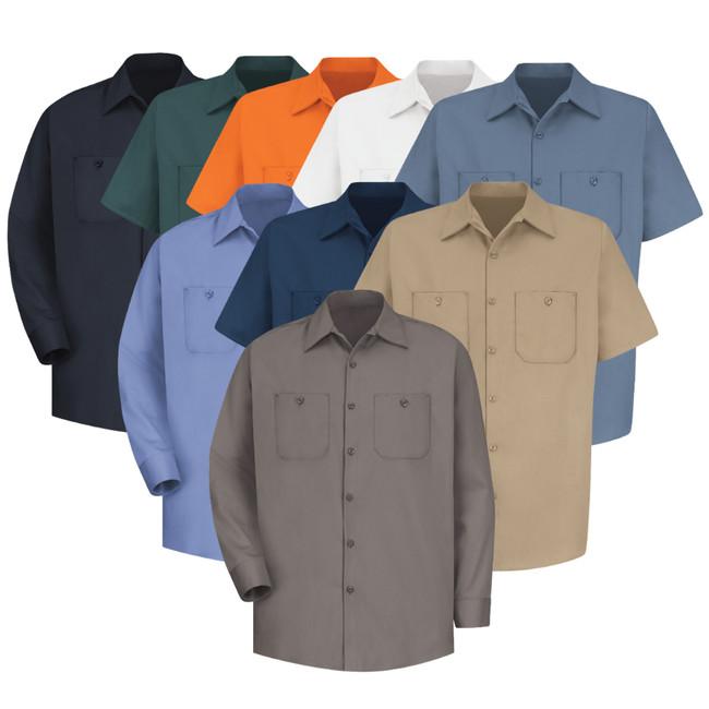 Wrinkle-Resistant Cotton Work Shirt - SC40 / SC30