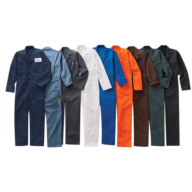 Red Kap Men's Twill Action Back Coverall - CT10 Navy, Postman Blue, Charcoal, White, Electric Blue, Orange, Brown, Spruce Green Black