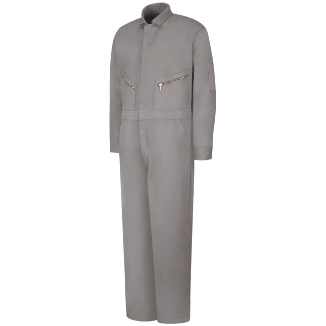 Mens Red Kap Zip-Front Cotton Coverall - CC18 Grey