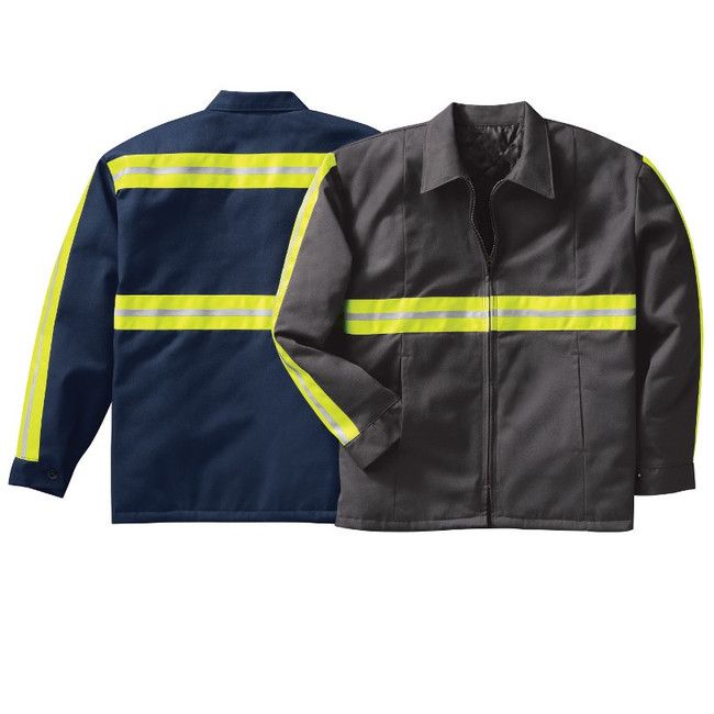 Red Kap Enhanced Visibility Perma-Lined Panel Jacket - JT50EC / JT50EN