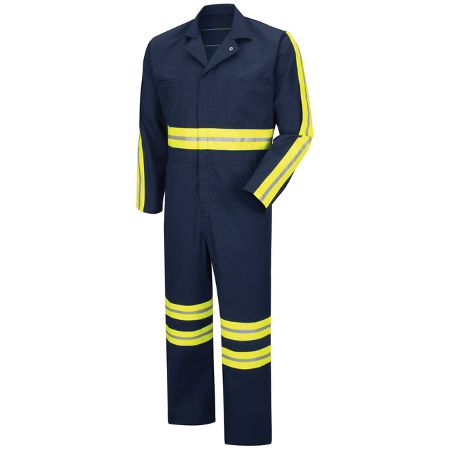 Red Kap Men's Enhanced Visibility Action Back Coverall with Reflective Trim - CT10