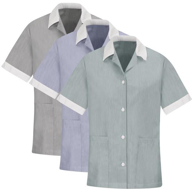 WOMEN'S SINGLE-BREASTED TUNIC 9S05BK 9S05BU 9S05HU 9S05NV 9S05TN CopperstoneWorkwear.com