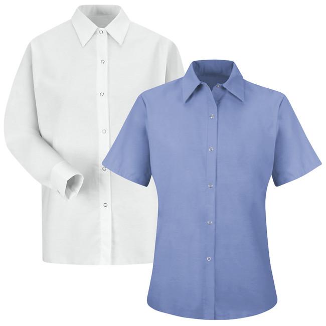 Red Kap Women's Specialized Pocketless Work Shirt - SP25 / SP15