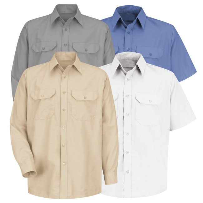 Red Kap Men's Solid Dress Uniform Shirt - SP60 / SP50