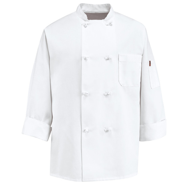 Chef Designs Eight Knot Button Chef Coat - 0411 / 0414