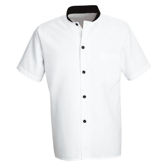 Chef Designs Black Trim Cook Shirt - SP04 CopperstoneWorkwear.com